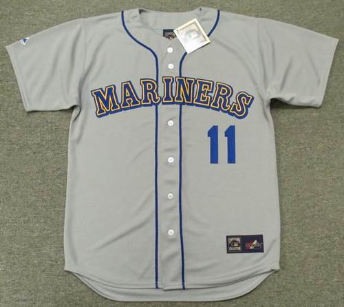 EDGAR MARTINEZ Seattle Mariners 1992 Away Majestic Baseball Throwback Jersey - FRONT
