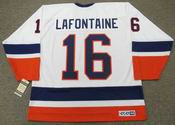 PAT LAFONTAINE New York Islanders 1990 Home CCM Throwback NHL Hockey Jersey - BACK