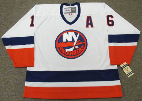 PAT LAFONTAINE New York Islanders 1990 Home CCM Throwback NHL Hockey Jersey - FRONT