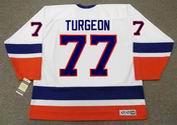 PIERRE TURGEON New York Islanders 1993 Home CCM Vintage Throwback Hockey Jersey - BACK