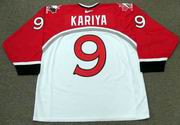PAUL KARIYA 1998 Team Canada Nike Olympic Throwback Hockey Jersey - BACK
