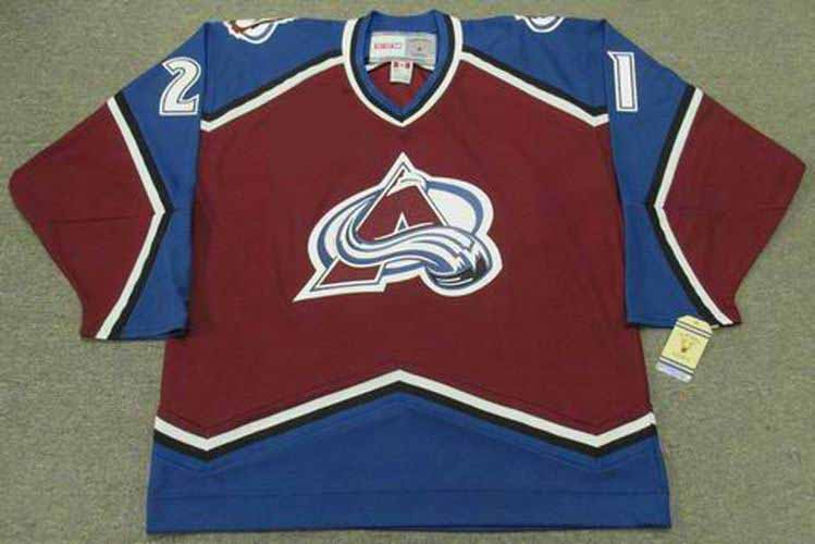 220c42d26 ... PETER FORSBERG Vintage Avalanche Jersey - BACK. See 4 more pictures