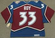 1996 Away CCM Throwback PATRICK ROY  Vintage Avalanche Jersey - BACK