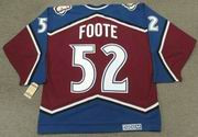 1996 Colorado Avalanche CCM Throwback ADAM FOOTE Vintage NHL jersey - BACK
