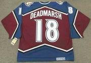 1996 CCM Vintage Throwback ADAM DEADMARSH Colorado Avalanche Jersey - BACK