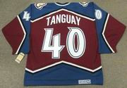 ALEX TANGUAY Colorado Avalanche 2001 CCM Vintage Throwback NHL Hockey Jersey