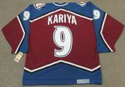 Paul Kariya 2003 Colorado Avalanche Vintage CCM NHL Throwback Hockey Jersey - BACK