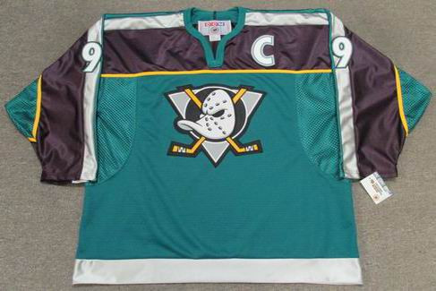 Paul Kariya 1998 Anaheim Mighty Ducks Alternate CCM NHL Throwback Hockey Jersey - FRONT