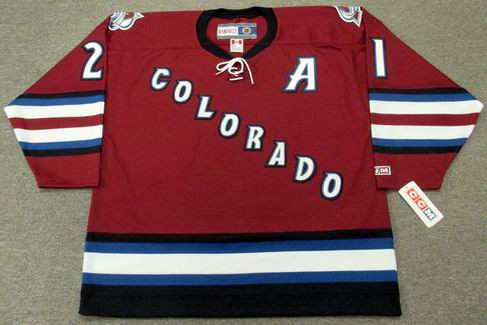 new concept 514a2 49cdd PETER FORSBERG Colorado Avalanche 2002 CCM Throwback Alternate NHL Hockey  Jersey