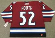 2003 Colorado Avalanche Alternate CCM Throwback ADAM FOOTE NHL hockey jersey - BACK