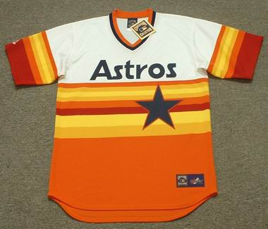 pretty nice 3e0cc 41c2a HOUSTON ASTROS 1980's Majestic Cooperstown Throwback Home Baseball Jersey