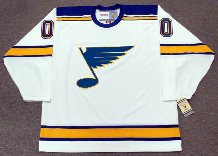 b717ba0a080 ST. LOUIS BLUES 1960's CCM Vintage Away Jersey Customized