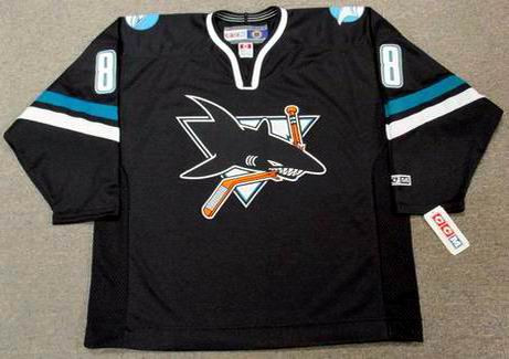 5422f092b1803 TEEMU SELANNE San Jose Sharks 2002 CCM Throwback Alternate NHL Jersey