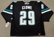 RYANE CLOWE San Jose Sharks 2006 CCM Throwback Alternate NHL Jersey
