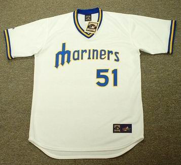 ICHIRO SUZUKI Seattle Mariners 1970's Majestic Cooperstown Baseball Jersey