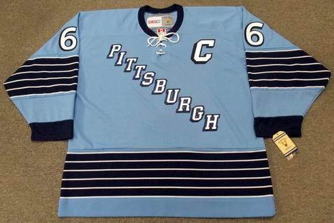 MARIO LEMIEUX Pittsburgh Penguins 1967 Home CCM Vintage NHL Throwback Jersey - FRONT