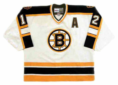 ADAM OATES 1996 Home CCM NHL Throwback Boston Bruins Jerseys - FRONT