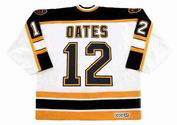 ADAM OATES 1996 Home CCM NHL Throwback Boston Bruins Jerseys - BACK