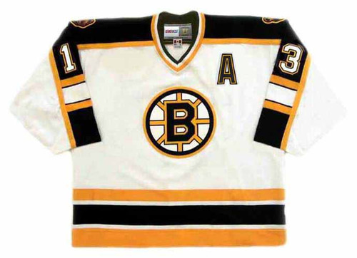 BILL GUERIN 2001 Home CCM NHL Throwback Boston Bruins Jerseys - FRONT