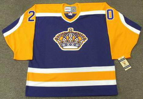 17ea1ff9d ... new zealand ccm luc robitaille los angeles kings 1987 vintage hockey  jersey e8eef 698c0