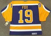 JIM FOX Los Angeles Kings 1984 CCM Vintage Away NHL Hockey Jersey