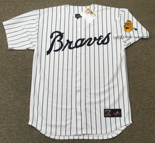 BOB UECKER Atlanta Braves 1967 Home Majestic Throwback Baseball Jersey - FRONT