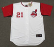 ROCKY COLAVITO Cleveland Indians 1965 Home Majestic Baseball Throwback Jersey - FRONT