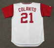 ROCKY COLAVITO Cleveland Indians 1965 Home Majestic Baseball Throwback Jersey - BACK