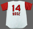 Cincinnati Reds 1960's Home Majestic Baseball Pete Rose Throwback Jersey - BACK