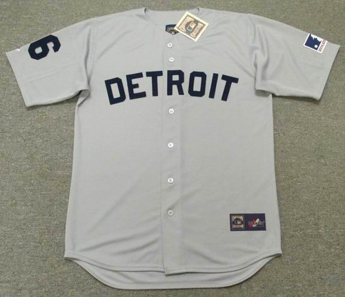 Al Kaline 1969 Detroit Tigers Majestic MLB Away Throwback Jersey - Front