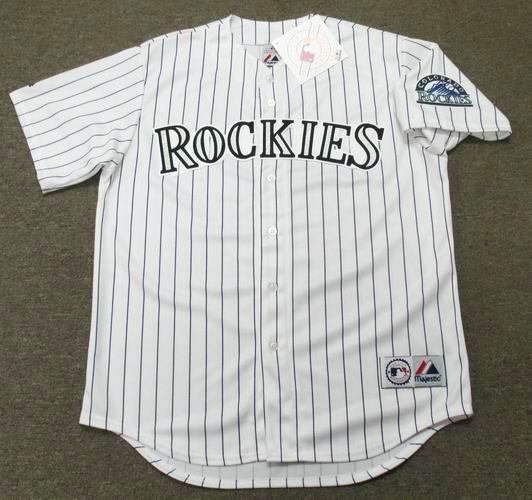 a19300fff ERIC YOUNG Colorado Rockies 1996 Majestic Throwback Home Baseball Jersey -  Custom Throwback Jerseys