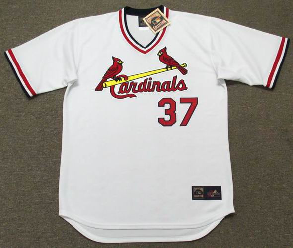 sports shoes b7573 9cede KEITH HERNANDEZ St. Louis Cardinals 1982 Majestic Cooperstown Home Baseball  Jersey