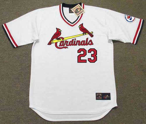 TED SIMMONS St. Louis Cardinals 1976 Home Majestic Throwback Baseball Jersey - FRONT