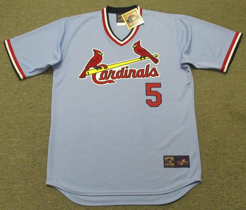 Albert Pujols 1980's St. Louis Cardinals Majestic MLB Away Throwback Jersey - FRONT