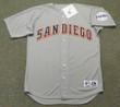 BIP ROBERTS San Diego Padres 1994 Away Majestic Baseball Throwback Jersey - FRONT