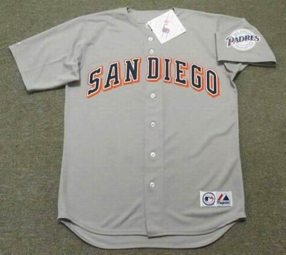 official photos 43ef5 038d7 TONY GWYNN San Diego Padres 1997 Away Majestic Baseball Throwback Jersey