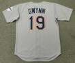 TONY GWYNN San Diego Padres 1997 Away Majestic Baseball Throwback Jersey - BACK