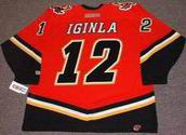 JAROME IGINLA Calgary Flames 2004 CCM Throwback NHL Hockey Jersey - BACK