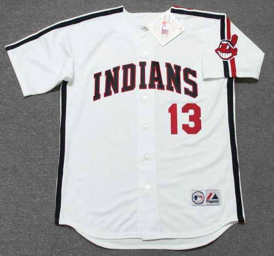 size 40 6dc13 e57c1 PEDRO CERRANO Cleveland Indians 1980's Majestic Baseball Throwback Jersey