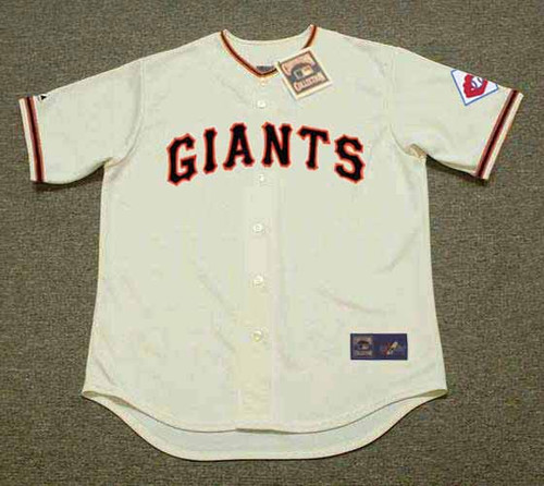 WILLIE MAYS New York Giants 1951 Home Majestic Throwback Baseball Jersey - FRONT