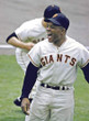 WILLIE MAYS New York Giants 1951 Home Majestic Throwback Baseball Jersey - ACTION