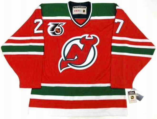 5785f074d46 Home · NHL Vintage Throwbacks · New Jersey Devils; SCOTT NIEDERMAYER New  Jersey Devils 1992 CCM Vintage