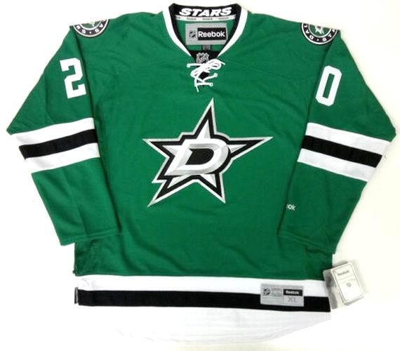 28463ea99 CODY EAKIN Dallas Stars 2015 REEBOK Throwback Home NHL Hockey Jersey -  Custom Throwback Jerseys