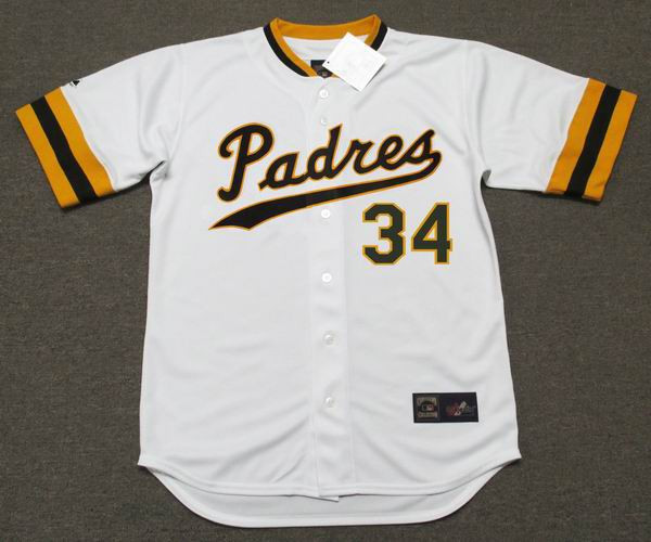 best service 92ca8 c8037 ROLLIE FINGERS San Diego Padres 1970's Majestic Cooperstown Home Baseball  Jersey