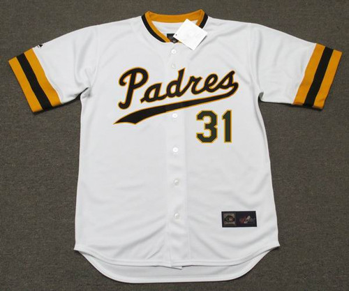 DAVE WINFIELD San Diego Padres 1974 Home Majestic Baseball Throwback Jersey - FRONT