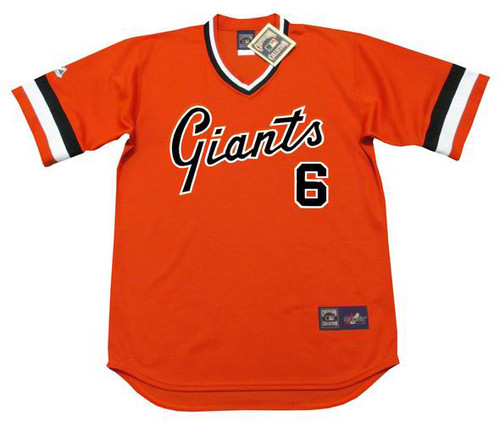 J.T. SNOW San Francisco Giants 1970's Majestic Throwback Baseball Jersey - FRONT