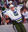 RON FRANCIS 1984 Home CCM Hartford Whalers Jersey - ACTION