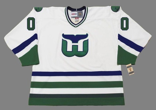 Customized 1970's Home CCM Hartford Whalers Jersey - FRONT