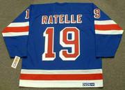 JEAN RATELLE New York Rangers 1972 Away CCM Throwback NHL Hockey Jersey - BACK