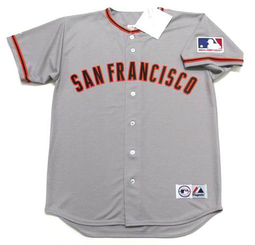 WILLIE MAYS San Francisco Giants 1969 Away Majestic Baseball Throwback Jersey - FRONT